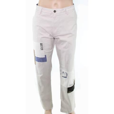 Club Room Mens Pants 40X30 Khakis Chinos Stretch Patch-Work