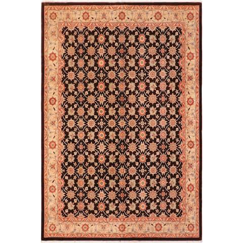 Kafkaz Miss Chocolate/Tan Wool Rug- 7 ft. 11 in. x 9 ft. 10 in. - 7 ft. 11 in. x 9 ft. 10 in.