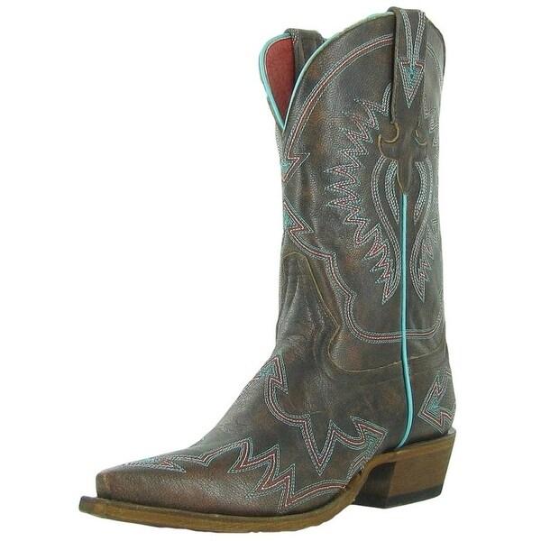 Macie Bean Western Boots Womens Cowboy Arrowhead Annie Brown
