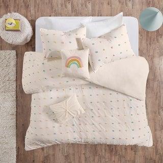 Urban Habitat Kids Ensley Cotton Jacquard Pom Pom Duvet Cover Set