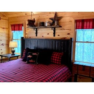 Eddie Bauer Mountain Plaid Scarlet Comforter Set