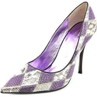 Chinese Laundry Nala Women Pointed Toe Leather Purple Heels