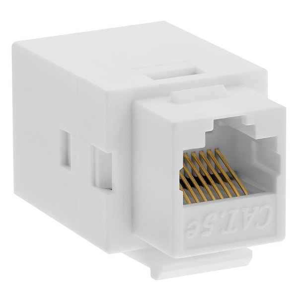 Cat5e Inline Coupler Type Keystone Jack - White