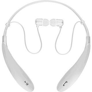IQ Sound IQ-127BTWH IQ Sound Bluetooth Wireless Headphones and Mic - Stereo - White - Wireless - Bluetooth - 32.8 ft - 16 Ohm -