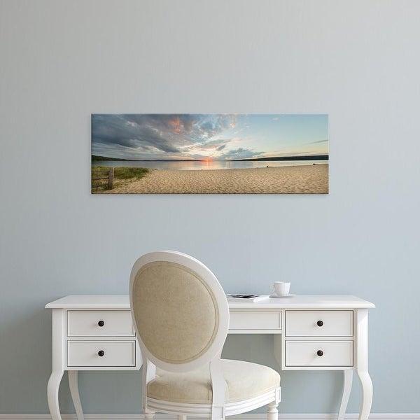 Easy Art Prints Panoramic Image 'Sunset on Bay, Lake Superior, Munising, Upper Peninsula, Alger, Michigan' Canvas Art