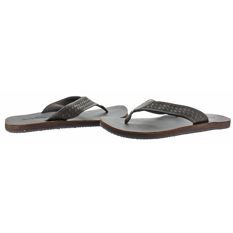 15afceced Shop Tommy Bahama Waldon Men s Leather Flip Flop Sandals - Free Shipping On  Orders Over  45 - Overstock - 20636467