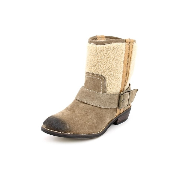 Kelsi Dagger Tempest Women Round Toe Suede Mid Calf Boot