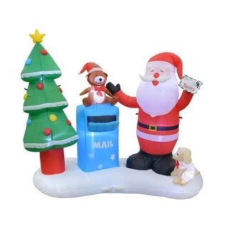 Link to 6.5FT L Inflatable Santa with Mailbox - Large Similar Items in Christmas Decorations