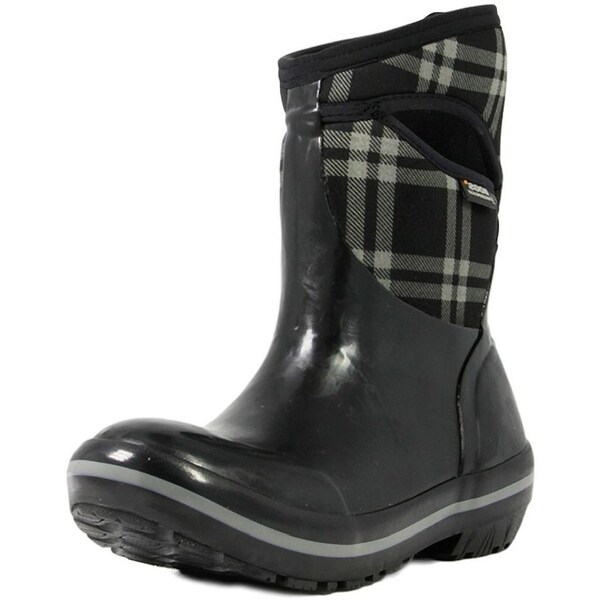 Bogs Boots Womens Plimsoll Plaid Mid Max-Wix Waterproof