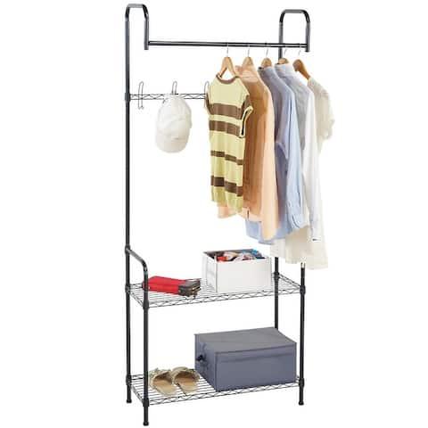 Modern Home Entryway/Mudroom Coat/Hat/Shoe Rack Organizer - Entrance Hall Tree Storage Rack