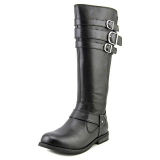 Harley Davidson Lynette Round Toe Leather Mid Calf Boot