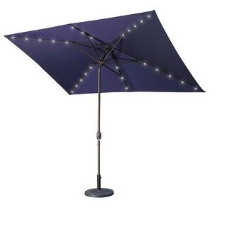 Link to 10' x 6.5'  Rectangular LED Outdoor Umbrella Similar Items in Patio Umbrellas & Shades
