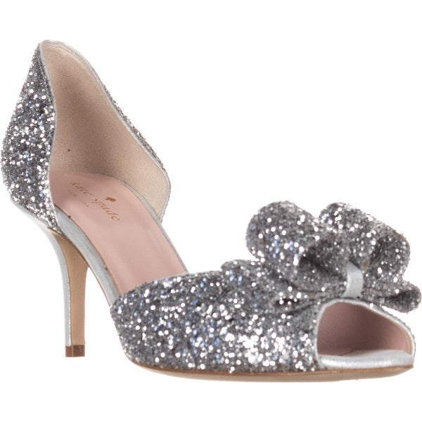 kate spade new york Sela Bow D'Orsay Dress Sandals, Silver
