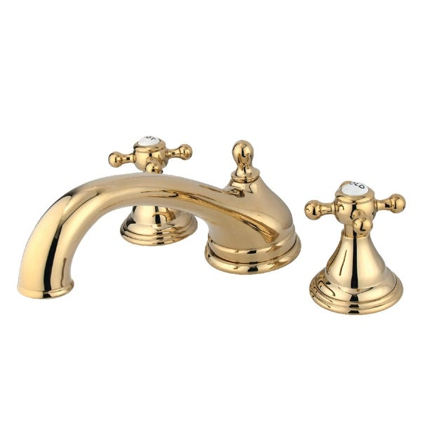Kingston Brass KS553.BX Vintage Deck Mounted Roman Tub Filler with Cross Handles