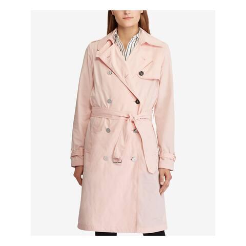 RALPH LAUREN Womens Pink Trench Coat Size 12