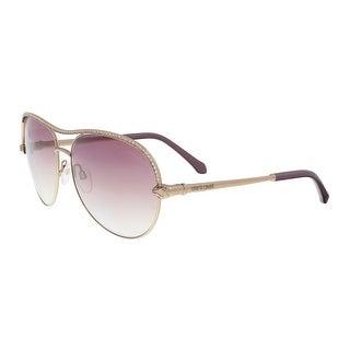 Roberto Cavalli RC1011 34Z VEGA Gold Round Sunglasses - 61-15-135