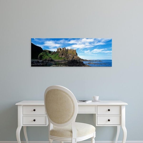 Easy Art Prints Panoramic Images's 'Dunluce Castle, Antrim, Ireland' Premium Canvas Art