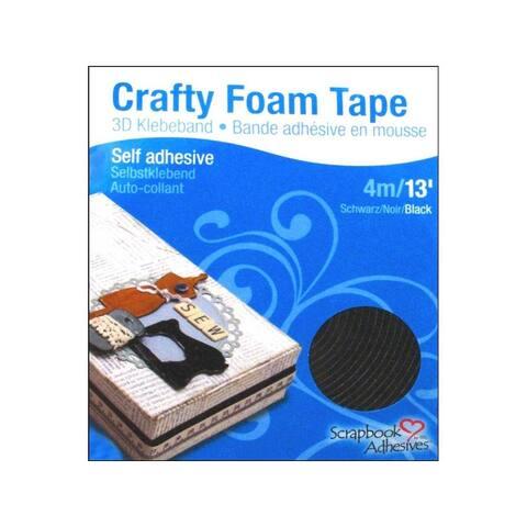 01619 3l scrapbk crafty foam tape 3 8 black 13ft