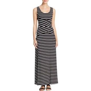 Calvin Klein Womens Maxi Dress Jersey Striped