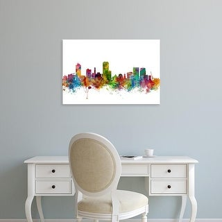 Easy Art Prints Michael Tompsett's 'Wellington New Zealand Skyline' Premium Canvas Art