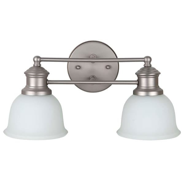 "Jeremiah Lighting 198122-WG Light Rail 2-Light Bathroom Vanity Light - 16"" Wide"