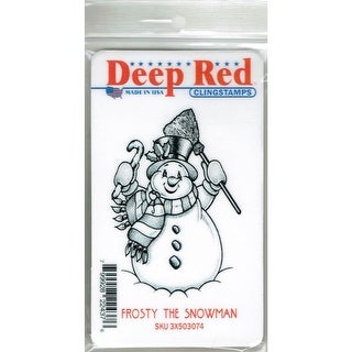 Deep Red Stamps Frosty the Snowman Rubber Cling Stamp - 2 x 3