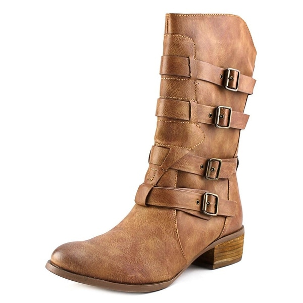 Not Rated On Fleek  Women  Round Toe Synthetic  Mid Calf Boot