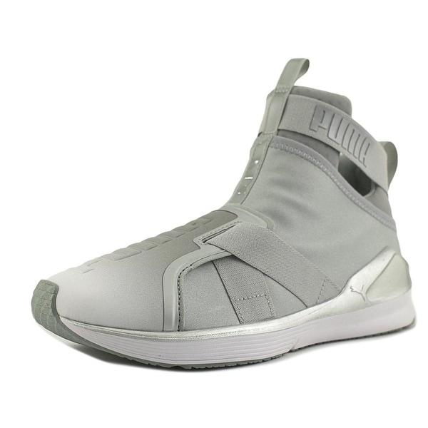 Puma Fierce Strap Metallic Women Synthetic Gray Fashion Sneakers