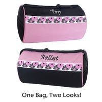 Sassi Design Girls Pink Black Ballet Tap Combo Small Roll Duffel Bag - One size