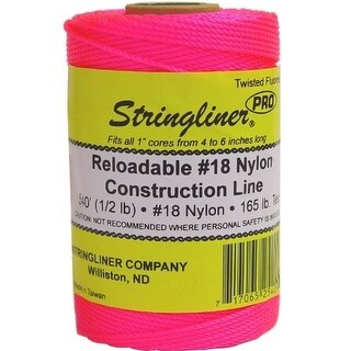 Stringliner 35409 Twisted Mason Line Reel Refill, Pink, 540'
