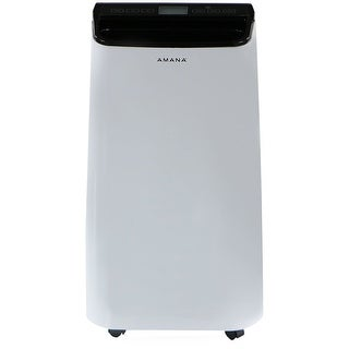 Amana AMAP101AB 10,000 BTU Portable Air Conditioner with Remote Control in White/Black - White