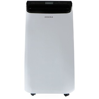 Amana AMAP121AB 12,000 BTU Portable Air Conditioner with Remote Control in White/Black - White