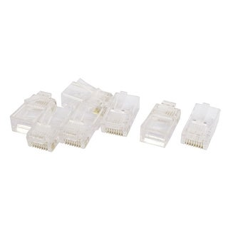 7pcs RJ45 8P8C CAT6 Modular Plug Ethernet Gold Plated Network Connector
