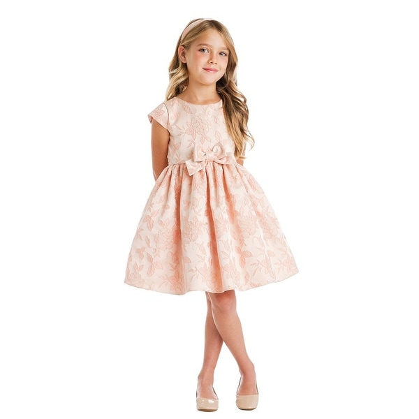 shop girls blush garden floral jacquard bow easter dress