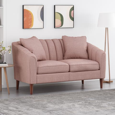 "Gamay Contemporary Channel Stitched Fabric Loveseat by Christopher Knight Home - 59.25"" W x 33.50"" D x 32.75"" H"