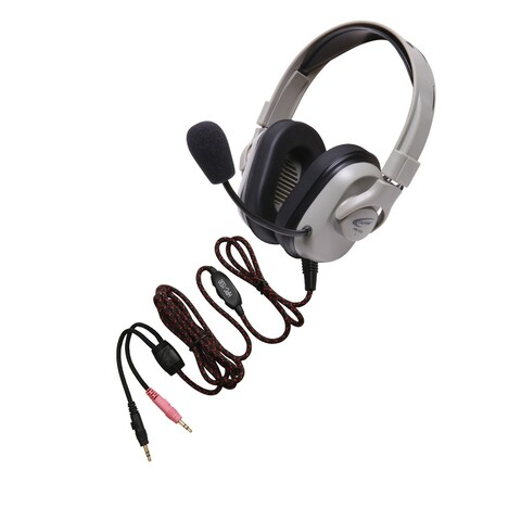Califone HPK-1550 Titanium Series Washable Headset, Dual 3.5mm Plugs, With Guaranteed for Life Cord