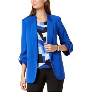 Link to Nine West Womens Open Front Blazer Jacket, Blue, X-Large Similar Items in Suits & Suit Separates
