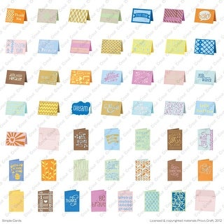Cricut Project Shape Cartridge-Simple Cards
