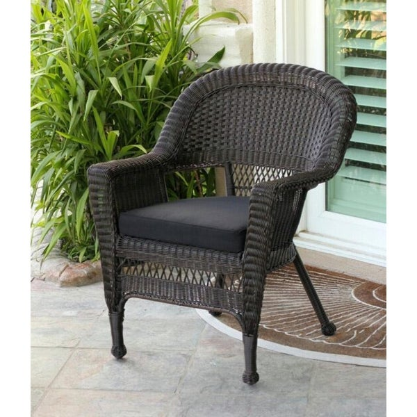 shop 36 espresso brown resin wicker outdoor patio garden chair