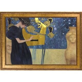 Gustav Klimt 'Musik' (Luxury Line) Hand Painted Oil Reproduction