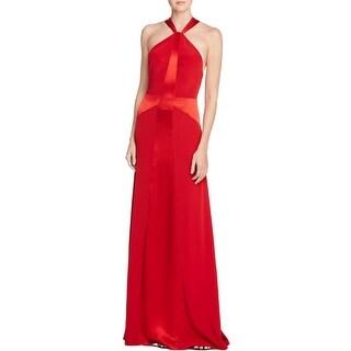 Jill Stuart Womens Evening Dress Sateen Piping