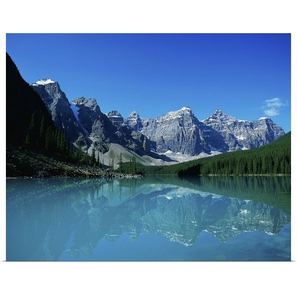 """""""Moraine Lake and mountains, Banff, Canada"""" Poster Print"""