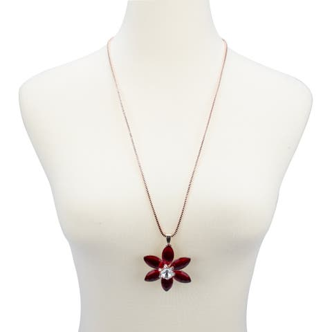 Stylish Blossom Crystal Style Necklace Unique Design