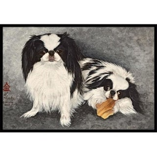 Carolines Treasures MH1050MAT Japanese Chin Impress Indoor & Outdoor Mat 18 x 27 in.