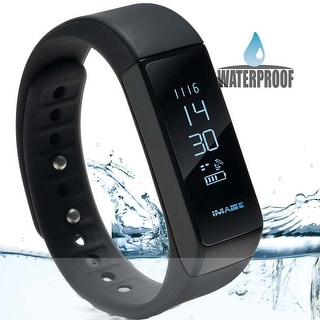 Waterproof Bluetooth Fitness Tracker Bracelet Smart Wrist Watch Band for iphone Android w/ Touch Screen