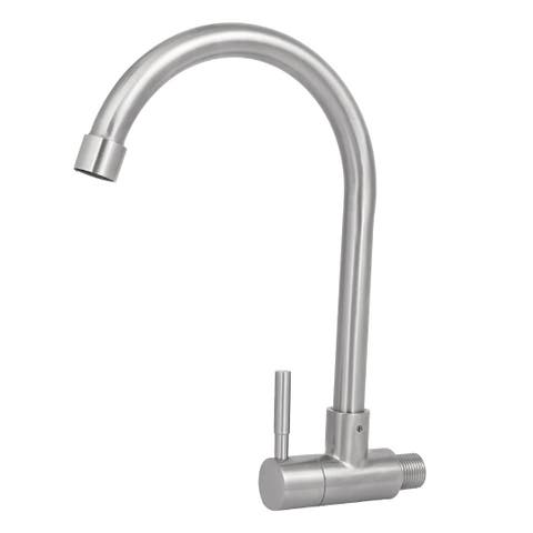 1/2BSP 304 Stainless Steel Single Hole Rotary Wash Sink Basin Water Tap Faucet