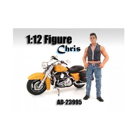 American Diorama 23995 Biker Chris Figure for 1-12 Scale Motorcycles