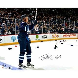 Patrik Laine Signed Winnipeg Jets 16x20 1st Hat Trick NHL Photograph Fanatics