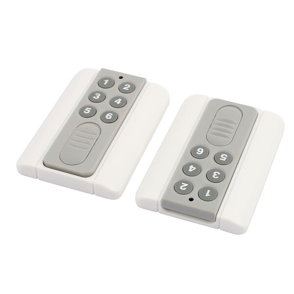 2pcs 100 Meters 6 Keys Plastic Shell Battery Powered Remote Controller w Base