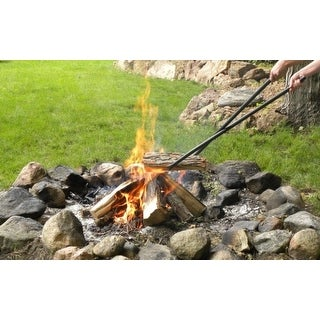 40 Inch Log Claw Grabber Move Fire Wood Easily & Safely in Your Fire Pit